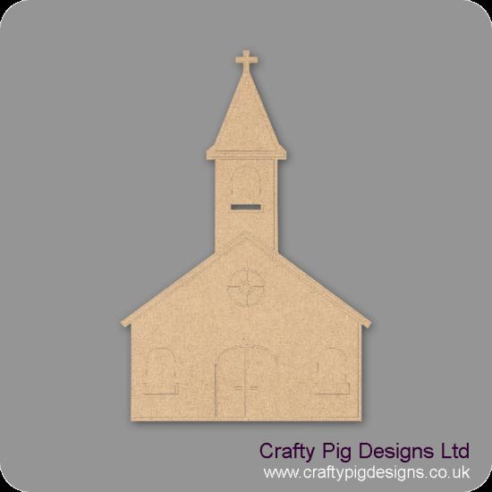 3mm MDF Church Shape Small MDF Embellishments
