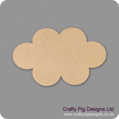 3mm MDF Cloud Small MDF Embellishments