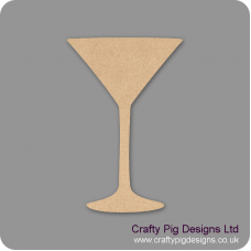 3mm MDF Cocktail Glass Basic Shapes