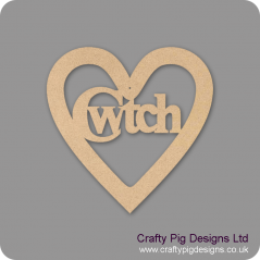 3mm MDF Cwtch In A Heart