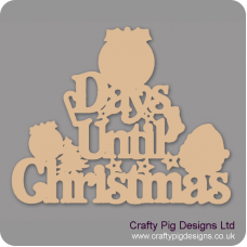 3mm MDF Days Until Christmas (Pudding top) Chalkboard Countdown Plaques