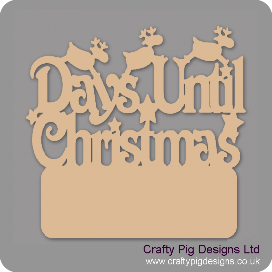 3mm MDF Days Until Christmas with Plaque (with reindeer)