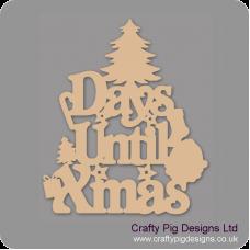 3mm MDF Days Until Xmas (xmas tree top) Chalkboard Countdown Plaques
