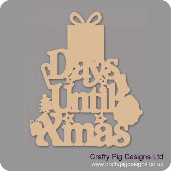 3mm MDF Days Until Xmas (gift box top)