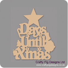 3mm MDF Days Until Xmas (Star Top) Chalkboard Countdown Plaques