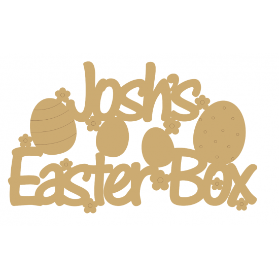 3mm MDF Personalised Rectangular Easter Box Topper Easter