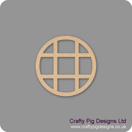 3mm MDF Fairy Window  (Pack of 2)(80mm) - crosshatched Fairy Doors and Fairy Shapes