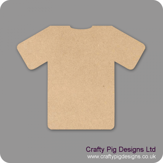 3mm MDF Football Shirt Small MDF Embellishments