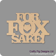 3mm MDF For Fox Sake!