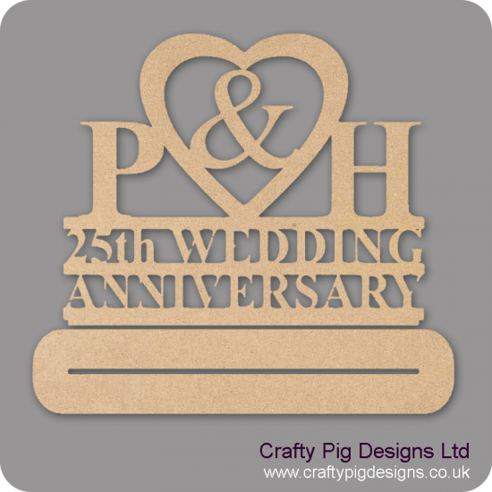4mm MDF Freestanding Anniversary Plinth - Personalised With initials/date/anniversary Personalised and Bespoke