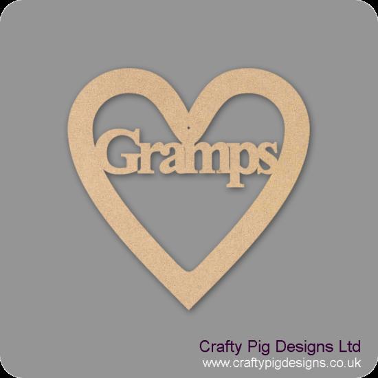 3mm MDF Gramps Heart