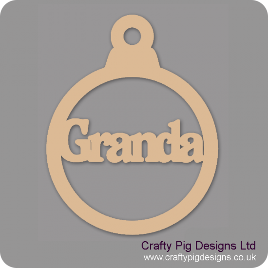 3mm MDF Granda bauble Christmas Baubles