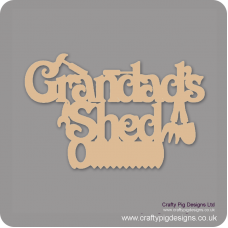 3mm MDF Grandad's Shed with tools Fathers Day