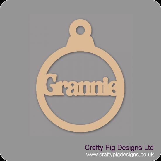 3mm MDF Grannie Bauble Christmas Baubles