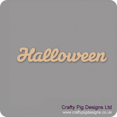 3mm MDF Halloween Word Joined In Susa Font