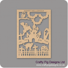 3mm MDF Halloween Cut Out Plaque Halloween