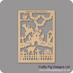 3mm MDF Halloween Cut Out Plaque