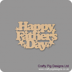 3mm MDF Happy Father's Day Hanging Plaque With Stars Fathers Day
