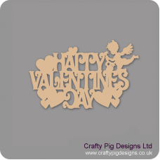 3mm MDF Happy Valentines Day Hanging Sign Valentines