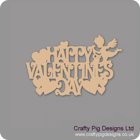 3mm MDF Happy Valentines Day Hanging Sign
