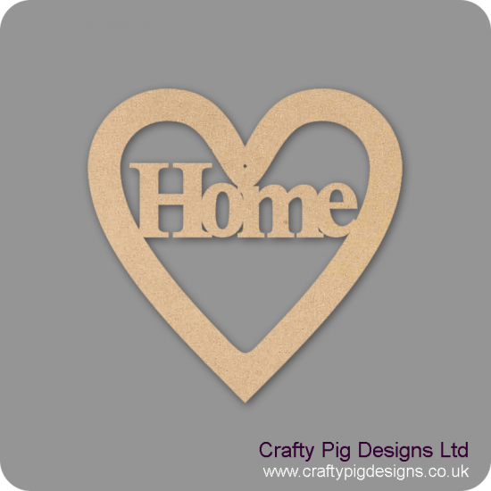 3mm MDF Home Heart