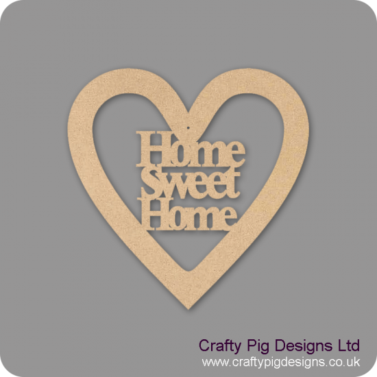 3mm MDF Home Sweet Home Heart