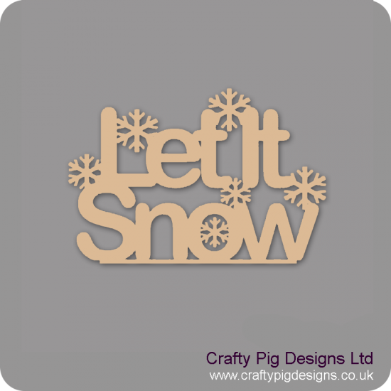 3mm MDF Let It Snow With Snowflakes - freestanding plinth