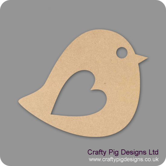 3mm MDF Lovebird (pack of 10)(30mm) Animal Shapes