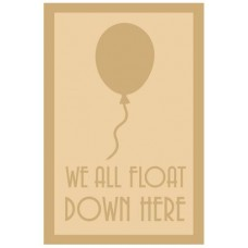 3 and 4mm Layered Plaque - We All Float Down Here Style 1 Layered Designs