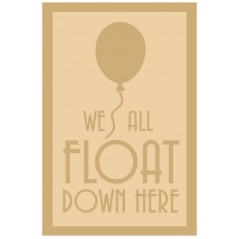 3 and 4mm Layered Plaque - We All Float Down Here Style 2 Layered Designs