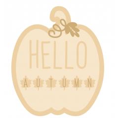 3mm mdf Layered Pumpkin - Hello Autumn Halloween