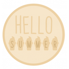 3mm mdf Layered Circle- Hello Summer Style 1