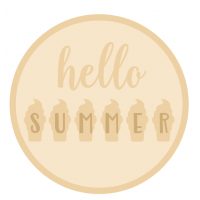 3mm mdf Layered Circle- Hello Summer Style 2