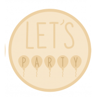 3mm mdf Layered Circle- Let's Party with Balloons