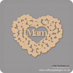 3mm MDF Mam Heart Of Hearts Mother's Day
