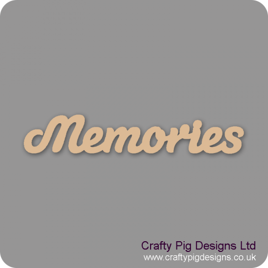 3mm MDF Memories Word Joined In Susa Font Joined Words