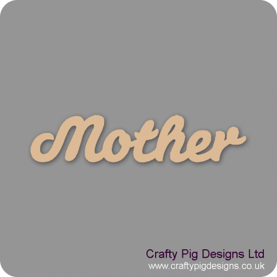 3mm MDF Mother Word Joined In Susa Font Joined Words