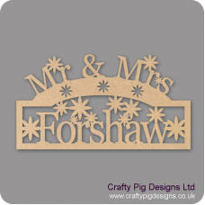 3mm MDF Mr And Mrs Sign - Freestanding  Personalised and Bespoke