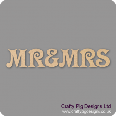 3mm MDF Mr & Mrs Bunting (set) Bunting