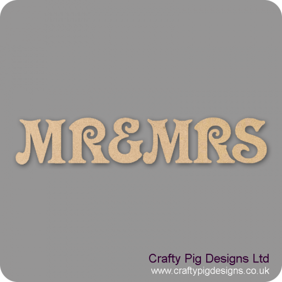 3mm MDF Mr & Mrs Bunting (set) Bunting