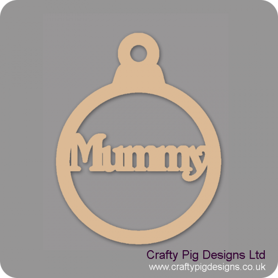 3mm MDF Mummy Bauble Christmas Baubles