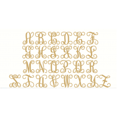 4mm Oak Veneer New Style Vine Monogram Monograms