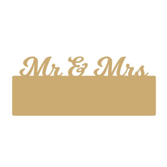 4mm mdf Mr & Mrs Sign for Vinyl Basic Plaque Shapes