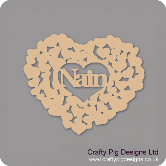 3mm MDF Nain Heart Of Hearts Mother's Day