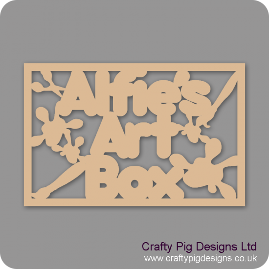 3mm MDF Rectangular Art Box Topper - Personalised With Name Personalised and Bespoke