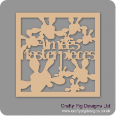 3mm MDF Square Name's Masterpieces Box Topper - Personalised  Personalised and Bespoke