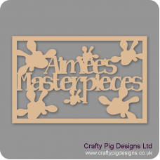3mm MDF Rectangular Box Topper - (name's) Masterpieces Box Topper Personalised and Bespoke