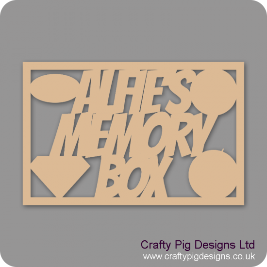 3mm MDF Rectangular Name Memory Box Topper - Personalised With Superhero Emblems (small)  Personalised and Bespoke