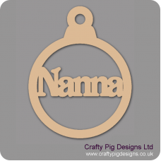 3mm MDF Nanna Bauble Christmas Baubles