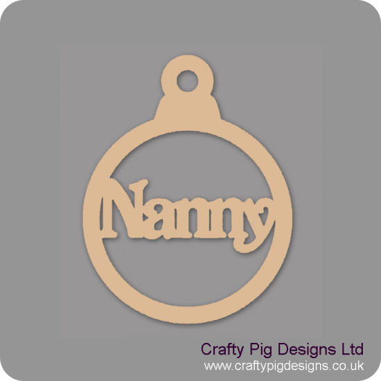 3mm MDF Nanny Bauble Christmas Baubles